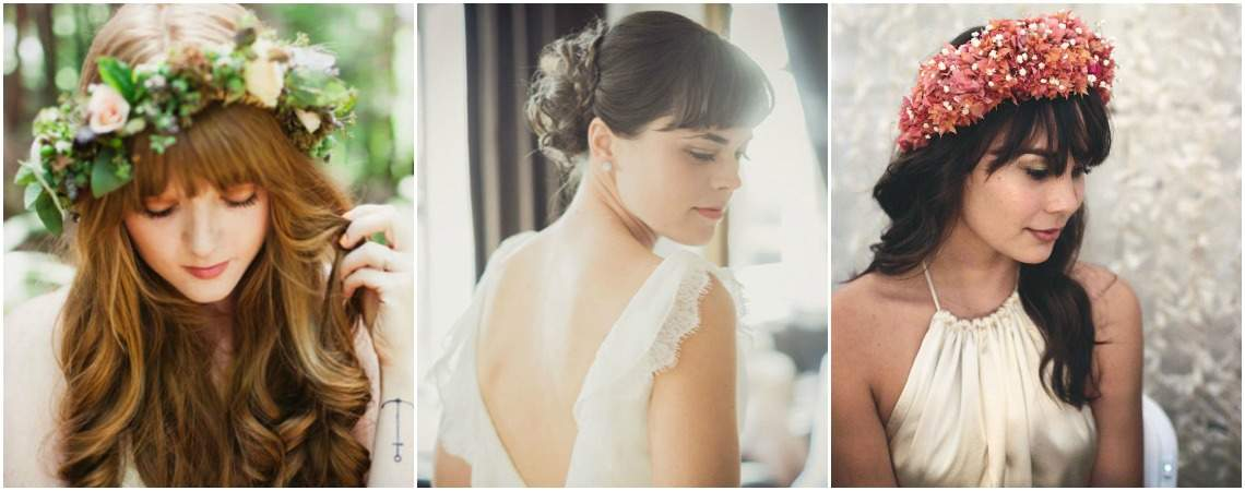 Bridal Hairstyles with a Fringe 2017: Frame your Face for your Big Day!