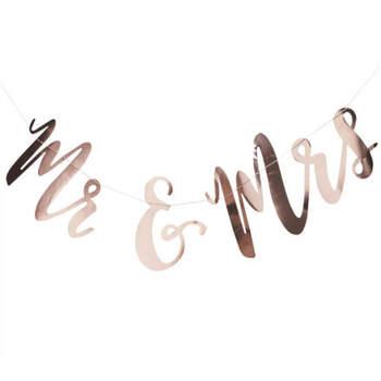 Guirnalda Ms & Mrs en Oro Rosa- Compra en The Wedding Shop