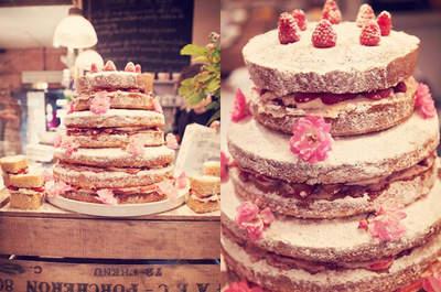 Gâteau de mariage joli, simple et succulent : telle est la tendance
