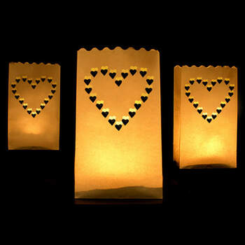 Bolsas Portavelas Corazón 10 unidades