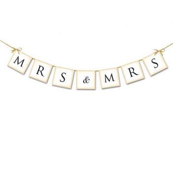 Guirnalda MRS & MRS- Compra en The Wedding Shop