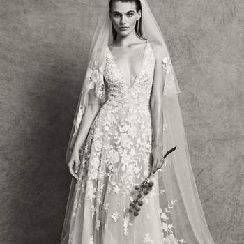 Camila with veil, Zuhair Murad