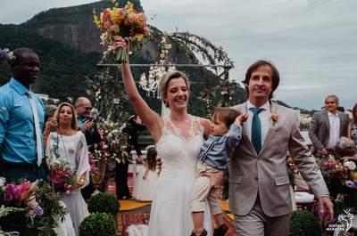 Casamento rústico-elegante de Carla & Rafael: o