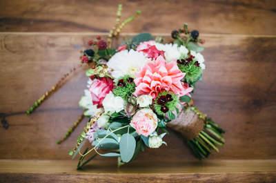 Entdecken Sie 50 wunderschöne Brautsträuße 2017 für Ihre Hochzeit! Kombinieren Sie farbige Blumen zu Ihrem Brautlook