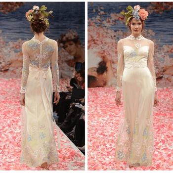 O estilo Boho é tendência em vestidos de noiva. Fitas, Renda estilo vintage, flores e cores pastéis características do estilo são presenças marcantes na coleção criada pela Claire Pettibone. Inspire-se na elegância do estilo Boho.