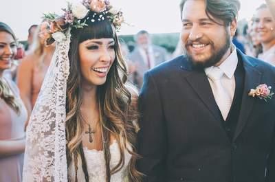 Casamento Boho de Debora & Antonio com detalhes DIY mega personalizados!