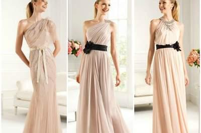 Selección Zankyou de vestidos de novia color rosa 2013