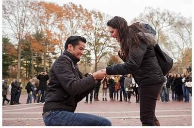 Luisa + Guillermo: Romántico compromiso sorpresa en Central Park, New York