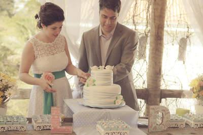 Um casamento intimista, rústico e com ar vintage: real wedding Luciana e Douglas