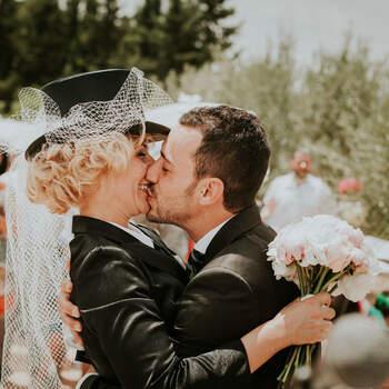 Beso de los novios | Foto: Rafa Molina Fotografía