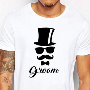 Camiseta Groom Sombrero De Copa- Compra en The Wedding Shop