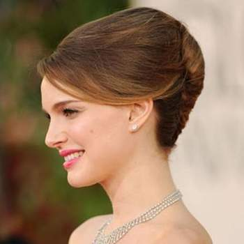 En la foto, precioso moño estilo vintage de Natalie Portman. Foto: Youtube.com
