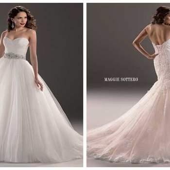 Zauberhafte Brautkleider mit jeder Menge Glamour und Romantik.