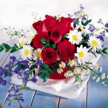 Centre de table Bouquet Eclat - Crédit photo: Pastel fleury