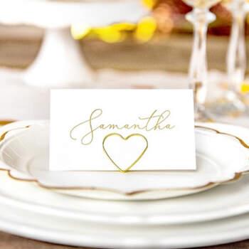 Marcasitio dos corazones de oro de 10 unidades- Compra en The Wedding Shop