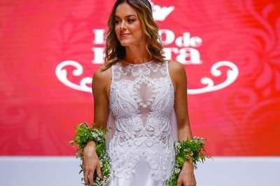 Os vestidos de noiva da Júlia Penteado brilham no final do Luxo de Festa 2015