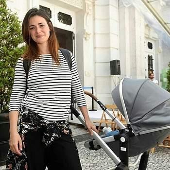 Joana Santos e o marido, Simão Cayatte, foram pais pela primeira vez este ano. A atriz foi mãe de um menino, Ari, no dia 12 de fevereiro. Foto via @joanasantosfans