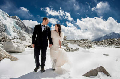 Un matrimonio sull'Everest per un amore ad alta quota