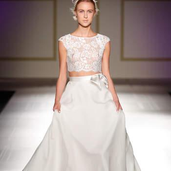 Deslumbrantes vestidos de novia de dos piezas. ¡Una tendencia que enamora!