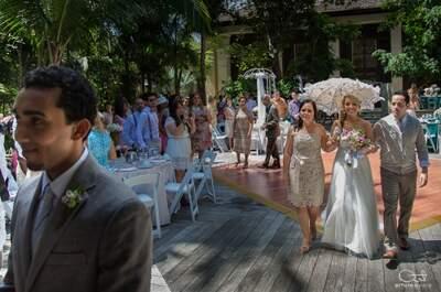 Incluye a tus papás en la fotografía de tu boda