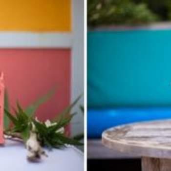 Detalles de color para decorar las mesas.