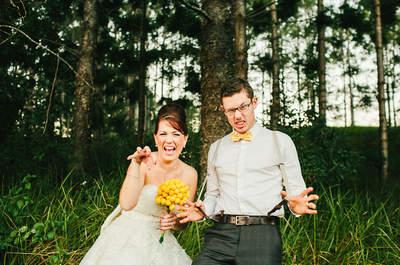 Ideas divertidas para fotos de matrimonio
