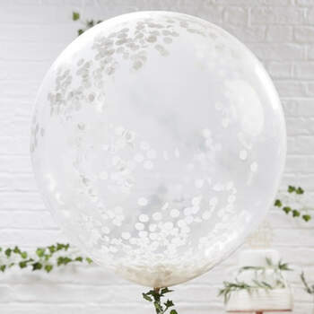 Globos grandes con confeti 3 unidades- Compra en The Wedding Shop