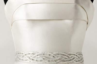 Cinturones de pedrería para vestidos de novia Pronovias 2013