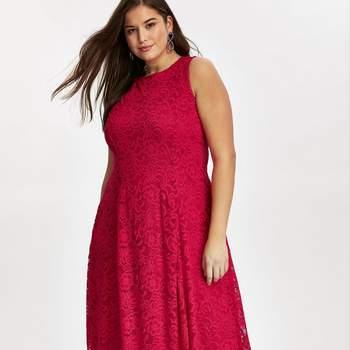 Grace Red Lace Midaxi Dress, Evans