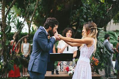 Casamento rústico chic de Camila & Felix: decoração tropical em hotel maravilhoso em Santa Teresa