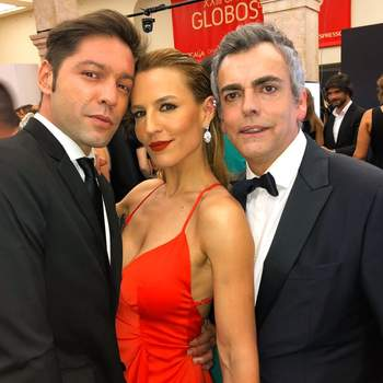 Na passadeira vermelha com Fìlipe Faísca e Pedro Morgado. Foto via IG @anaritagram