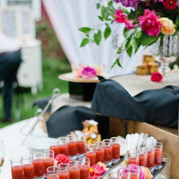 Mesa de zumos de tomate. Credits: Leila brewster