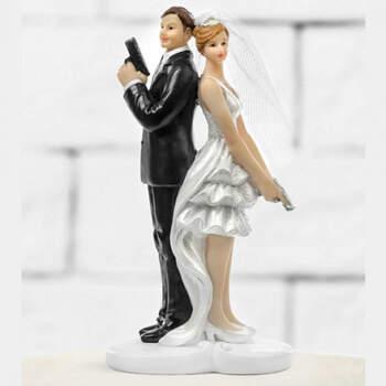 Figura Tarta Nupcial Agentes Secretos- Compra en The Wedding Shop