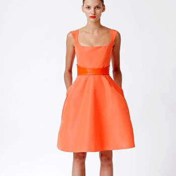 Vestido de festa cor-de-laranja, by Monique Luillier Resort 2013.
