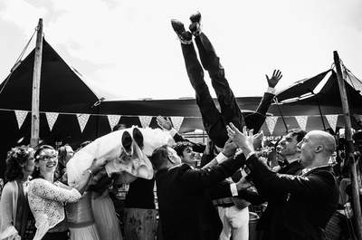 Real wedding op een fantastische buitenlocatie van het bruidspaar Nelleke en Jack!