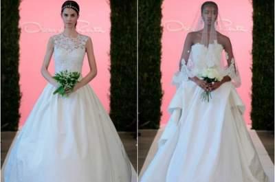 Moda conceitual e sofisticação marca a passarela New York Bridal Week: looks de 2015
