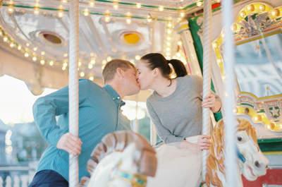 Real Love: Déjate conquistar por esta linda sesión de fotos pre boda en un mágico parque de diversiones