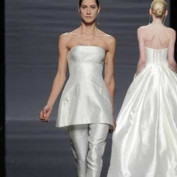 "Fot. Barcelona Bridal Week  <a href=""http://zankyou.9nl.de/du15"" target=""_blank"">Odkryj nową kolekcję Rosa Clara 2015</a>"