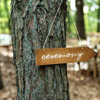 Signalisation en bois Ceremony - The Wedding Shop !