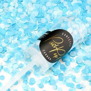 Pushpop de confeti azul claro- Compra en The Wedding Shop