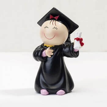 Figura para tarta chica graduación dibujo- Compra en The Wedding Shop