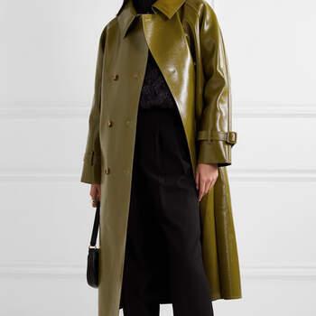 Casaco de Pele Texturizado com brilho duplo Frankie Shop via Net-a-Porter