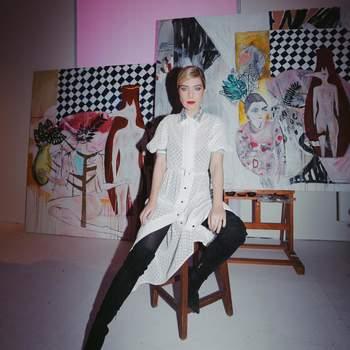 Raquel Strada vestida por Katty Xiomara   Foto via Instagram