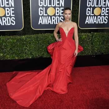 Scarlett Johansson abito Vera Wang. Crédits Cordon Press