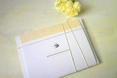 Andorinhas para decorar o seu casamento