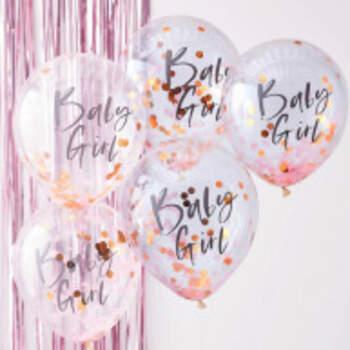 Ballons Baby Girl 5 Pièces - The Wedding Shop !