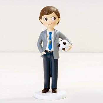 Figura para Tarta de Comunión: Niño con Pelota- Compra en The Wedding Shop
