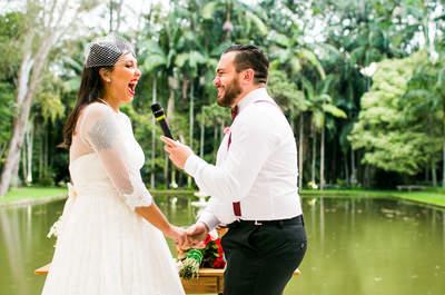 Casamento vintage de Amanda & Thiago: ao ar livre, charmosíssimo e emocionante!