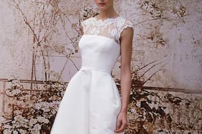 Piernas a la vista: Vestidos de novia cortos en tendencia para 2014