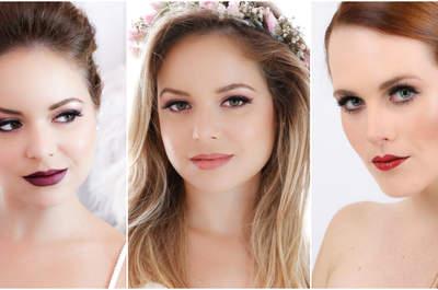 Dicas super atuais para uma maquiagem de noiva perfeita.